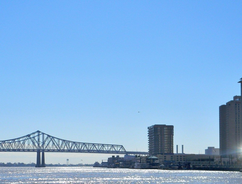 The Mississippi River in New Orleans