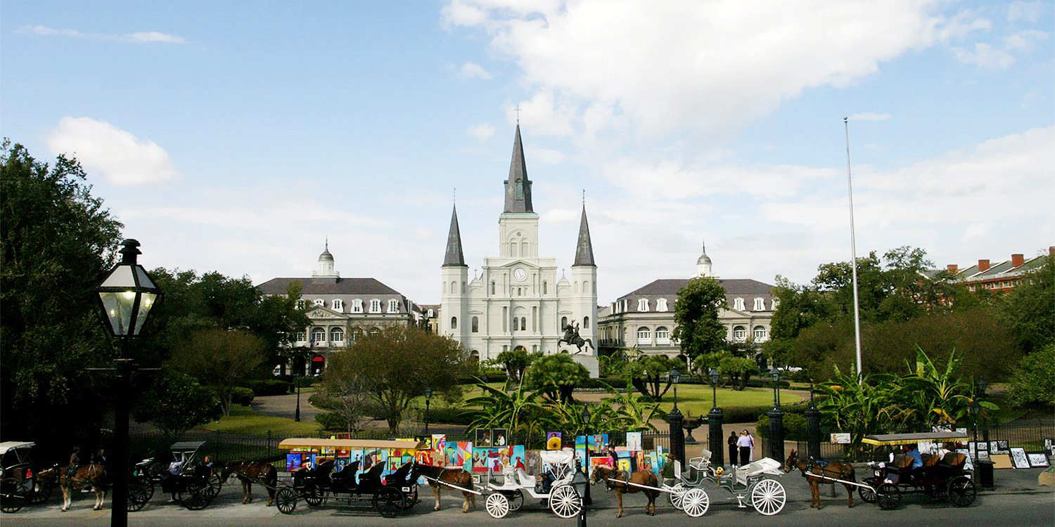The French Quarter in New Orleans, LA